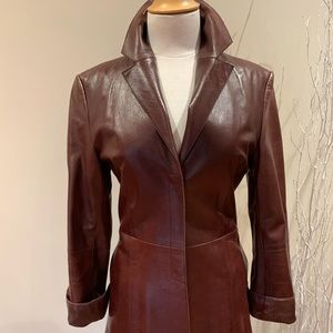 Leather Mackage coat size S-XS wine colo…